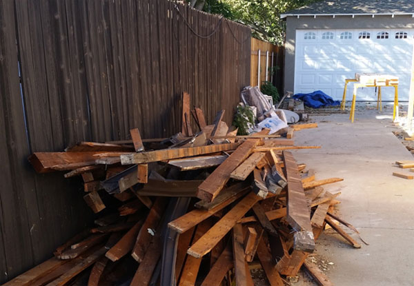 Construction waste removal, Pasadena